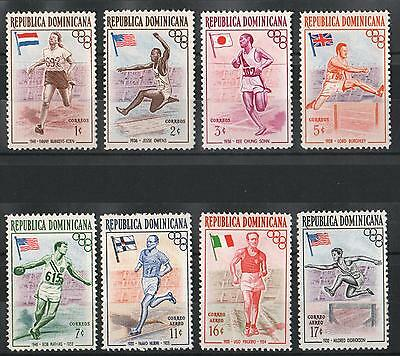 XG-A908 OLYMPIC GAMES - Dominican Rep., 1957 Australia Melbourne MNH Set