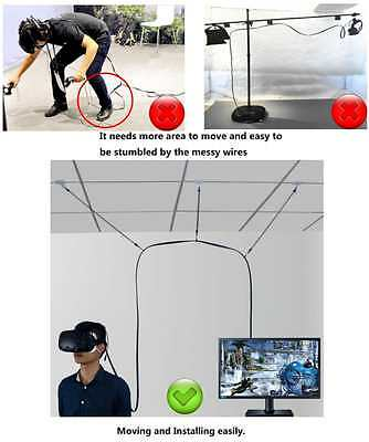 MDW Cable Management System for HTC VIVE Virtual Reality Headset- No More
