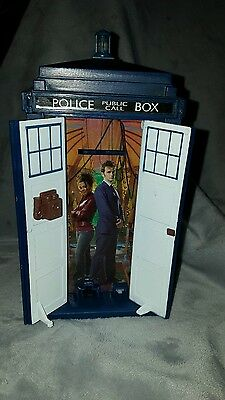 Doctor Who TARDIS Money Box With Lights 10th Doctor & Rose Tyler BBC