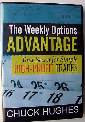 THE WEEKLY OPTIONS ADVANTAGE HIGH Secret High Profit Trades CHUCK HUGHES 2DVDs