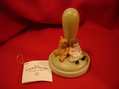 """1995 Brown Bag Cookie Art Stamp Rag Doll and Teddy Bear, Heart """"Friends"""" #25"""""""