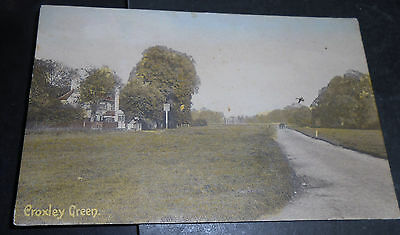 old colored PPC from Croxley Green - Rickmansworth / Hertfordshire) - used !