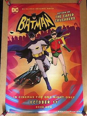 Rare-BATMAN, Return Of The Caped Crusaders ORIG,CINEMA One SHEET Poster,Not Quad