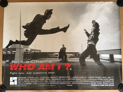 Very Rare - Who Am I ? - Original UK Cinema Quad Poster - Jackie Chan - 1999
