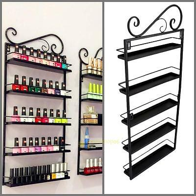 5 Tire Wall Mounted Nail Polish Acrylic Stand Display Rack Holder Varnish Shelf