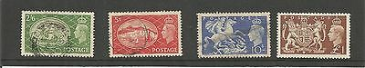 King George Vi 1951 High Value Definitives Set Of Four Used Sg 509-512  Ref 286