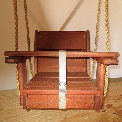 Toddler Wood Swing with 10 Feet of Rope Per Side