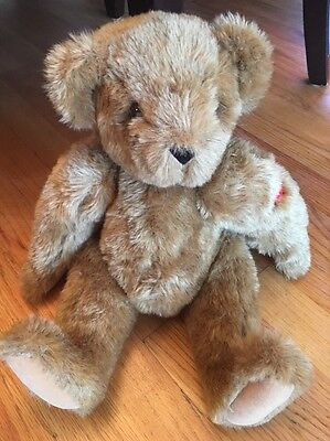 """Vermont Teddy Bear Love Tattoo Brown Jointed 15"""""""