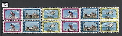 XG-AA160 AFGHANISTAN - Birds, 1974 Strip, Block Of 4 MNH Sheet
