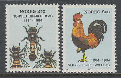 XG-AA360 NORWAY - Bees, 1984 Rooster, Centenaries MNH Set