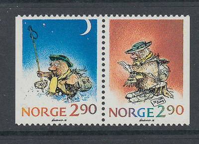 XG-AA400 NORWAY - Christmas, 1988 Booklet Pair MNH Set