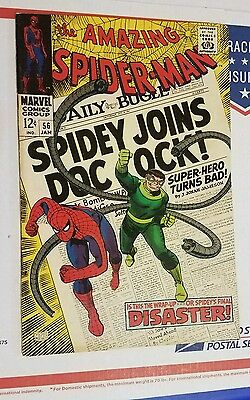 AMAZING SPIDER-MAN # 56 (1/68, MARVEL) VF (8.0) 1st CAPT. STACY! DR. OCTOPUS!