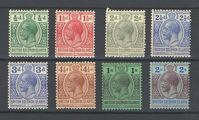 British Solomon Islands 8 Stamps Up To 2 Shillings Mint/H