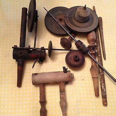 Antique Spinning Wheel Parts