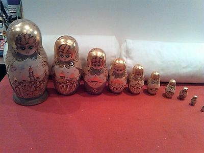 Collectable Set of Ten Russian Dolls Signed & Dated 1994