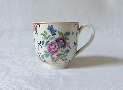 18Th C English Worcester Hand Painted Porcelain Coffee Can