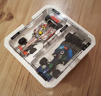 Scalextric 1:32 Pair F1 Cars - Formula One - Earth Car #7 & Vodafone #2