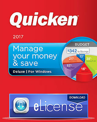 Quicken Deluxe 2017 - Personal Finance & Budgeting 3PC e.License