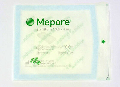 QUALITY MOLNLYCKE BRAND- MEPORE ADHESIVE FABRIC DRESSING 9 x 10CM X 12 PIECES