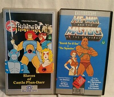 2 Rare VHS Video's ~ He-Man & The Masters of The Universe and Thundercats. VGC