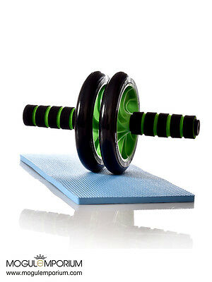 Abdominal ABS Workout Wheel Roller Fitness Gym Exercise Strength Training + pad