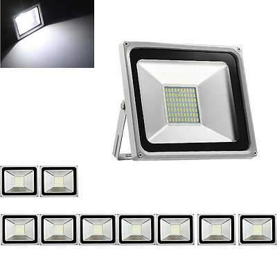 10X 50W LED Floodlight Cold White Outdoor Garden Lamps LED SMD Floodlight IP65