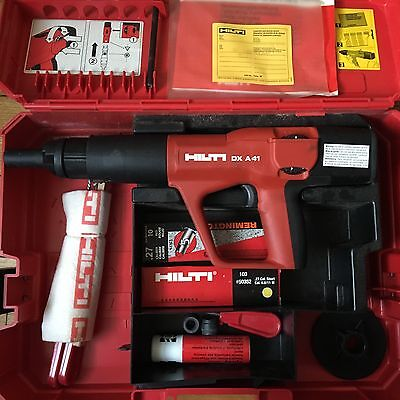 Hilti DX A41-Powder Actuated Fastening Systems Nail Gun Kit With Case