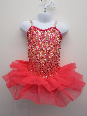 Dance Costume Small Child SAlmon Pink Ballet Tap Jazz Solo Competition Pageant