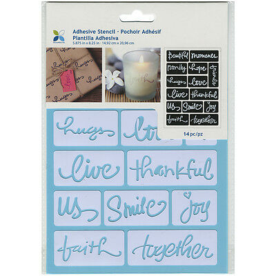 "Momenta Adhesive Stencil 6""X8""-Beautiful Words"
