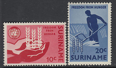 XG-AA780 SURINAME IND - Freedom From Hunger, 1963 2 Values MNH Set