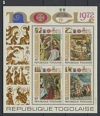 XG-AA870 TOGO IND - Paintings, 1972 Christmas, Nativity, Imperf. MNH Sheet