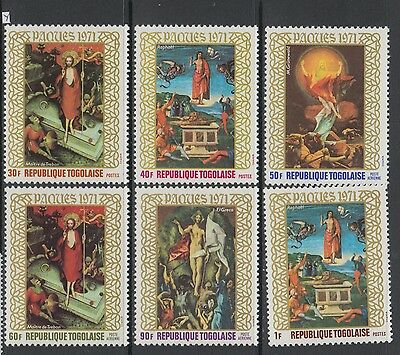 XG-AB060 TOGO IND - Paintings, 1971 Easter, 6 Values MNH Set
