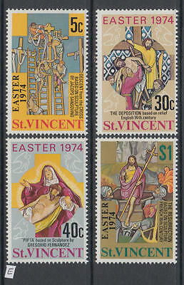 XG-AB070 ST VINCENT - Easter, 1974 Paintings, 4 Values MNH Set