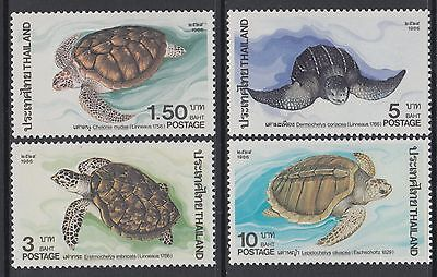 XG-AB460 THAILAND - Turtles, 1986 Marine Life, Wildlife Conservation MNH Set
