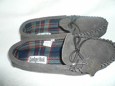 Mens Moccasin Slippers Size 10Uk 44Eu Dark Brown Real Suede By Coolers