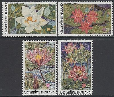 XG-AB550 THAILAND - Flowers, 1991 Lotus, 4 Values MNH Set