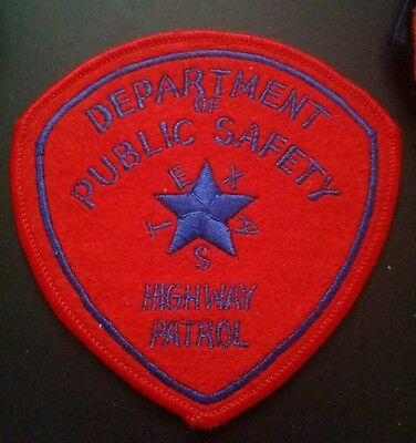 Department Of Public Safety Highway Patrol Texas Police Shoulder Patch Tx