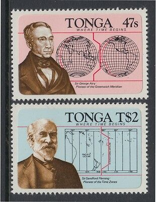 XG-AB670 TONGA IND - Maps, 1984 Intl. Dateline Centenary Adhesive Stamps MNH Set
