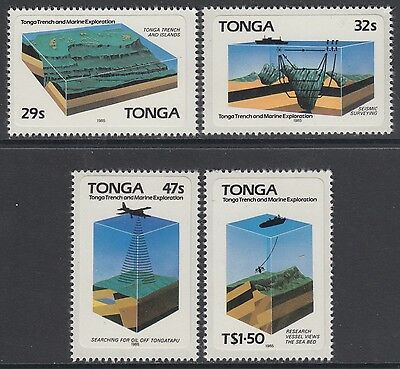 XG-AB680 TONGA IND - Geology, 1985 Geological Survey, Adhesive Stamps MNH Set