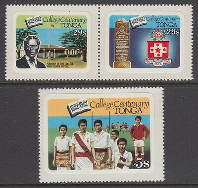 XG-AB690 TONGA IND - Education, 1982 College Cent., English Inscription MNH Set