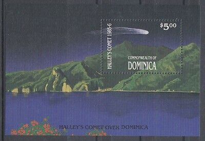 XG-AB980 DOMINICA IND - Halley'S Comet, 1986 Astronomy, Space MNH Sheet