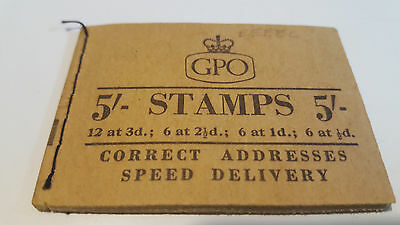 GB 5/-  Stamp Booklet variety SGH35