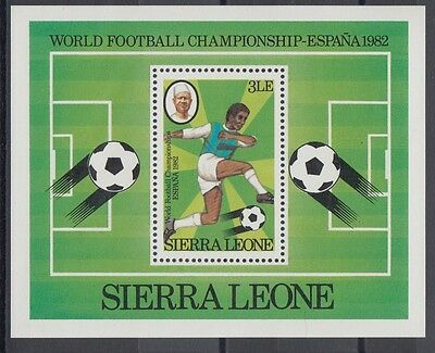 XG-AC350 SIERRA LEONE IND - Football, 1982 Spain World Cup MNH Sheet
