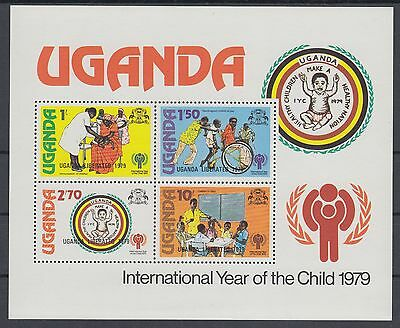 XG-AC620 UGANDA IND - Intl. Year Of The Child, 1979 Liberated Ovp. MNH Sheet