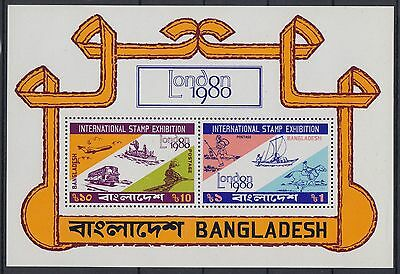 XG-AC730 BANGLADESH - Transportation, 1980 London '80 MNH Sheet