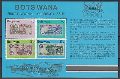 XG-AC910 BOTSWANA - Banknotes, 1976 1St National Currency Issue MNH Sheet