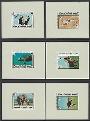 XG-BA013 MAURITANIA IND - Wwf, 1978 Wild Animals, 6 Deluxe Proof Sheets MNH