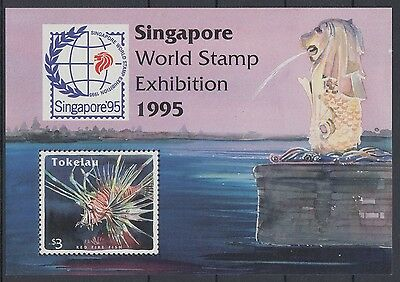 XG-AD010 TOKELAU ISLANDS - Fish, 1995 Marine Life, Singapore '95 MNH Sheet