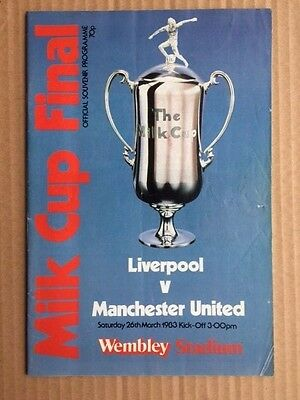 Liverpool V Manchester United Football League Cup Final 1983