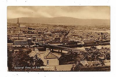 Superb Real Photographic Postcard General View Of Londonderry  Northern Ireland